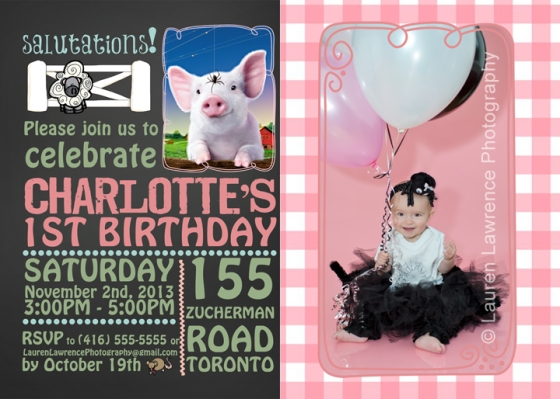Charlottes Web Invitation