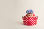 Baby in bucket photo