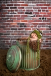 Oscar the Grouch inspired newborn photo prop by Toronto Newborn Photographer Lauren Lawrence